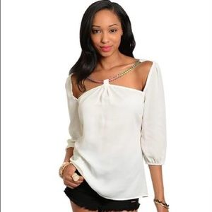 Off White Fashion Blouse